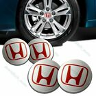 Set of 4 Wheel Center Caps Hubs Cover 69mm For ACCORD CRV PILOT CIVIC S2000 RED