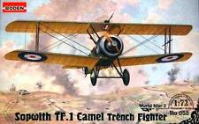 SOPWITH TF1 CAMEL TRENCH FIGHTER ATTACK AIRCRAFT (BRITISH RFC MKGS) 1/72 RODEN