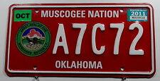 """USA Nummernschild Indianer """"MUSCOGEE NATION"""" Oklahoma. 8493."""