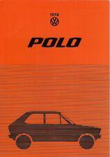 Volkswagen Polo 1977-78 UK Market Foldout Sales Brochure N L LS