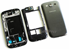 Genuine OEM Samsung Galaxy S3 i9300 Complete Full Housing Cover Frame Door Gray