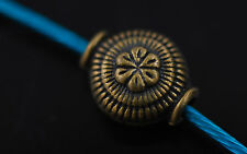 30pcs Antique Bronze Metal Beads Loose Spacer Diy Jewelry Finding 7.5x9.5mm New