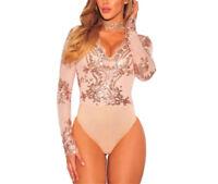 Beba Shop® Blusas Body Tops Blusa De Mujer De Moda Elegantes Casuales Doradas