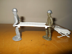 Vintage SP MPC WWII Stretcher Bearers 60mm