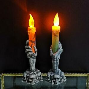 Skull Stand LED Candle Skeleton Hand Light Decoration Halloween