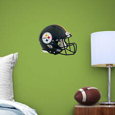 "Pittsburgh Steelers Helmet Vinyl Fathead Wall Graphics 11"" X 9"" poster sticker"