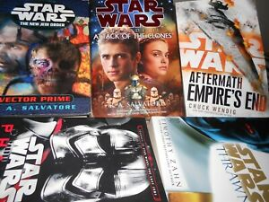 5 x STAR WARS BOOKS BULK  PHASMA/ THRAWN / AFTERMATH EMPIRES END AND MORE
