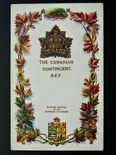 More details for regimental badges the canadian contingent b.e.f. postcard by gale & polden 1644