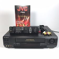 Sony SLV-N50 Hi-Fi Stereo VHS Player VCR in Black w/ Remote | Tested