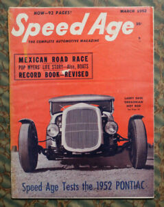 SPEED AGE 1952 OREGON HOT ROD PONTIAC TEST GRAND AUTO RACING PRIX CORD KINMONT