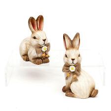 2x Cerámica Conejo de Pascua Set 13 cm decoración pasuca CÓMIC 25126