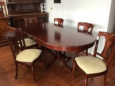 Mahogany extending table  6 chairs
