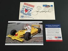 Johnny Rutherford Signed Fdc Psa/Dna Coa Indy Indianapolis 500 autograph 3x Win