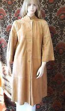 Vintage Nordstrom Willett Long Lamb Skin Suede Women's Swing Coat Size Med EUC