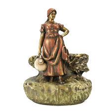 Imperial Amphora Turn Teplitz Austrian Hand Painted Porcelain Figural Vase c1900