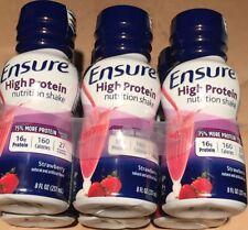 24 Ensure High Protein Nutritional Shake, 16g Protein, Strawberry 8 oz Sep 2021