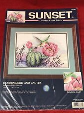 NEW 2000 Dimensions (Sunset) Hummingbird & Cactus Counted Cross Stitch Kit#13680
