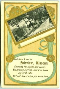 Fairview MO Scenic 1910 Ode to Fairview, Foiled & Embossed