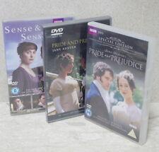 Pride And Prejudice (DVDs 2009 & 2000) + Sense & Sensibility 2008 ~ all NrAsNew