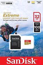 32 GB Micro SDHC SANDISK EXTREME SDHC UHS-I U3 4K 90MB/S SCHEDA di MEMORIA CLASSE 10 UK