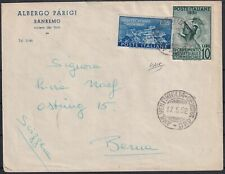 1952 17 Mag Letter from San Remo for Ventimiglia in fee l.65 with l.55 montecas
