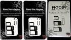 100 X  NOOSY RSIM NANO branded  & Micro SIM Card Adapter kit
