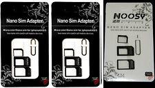 1000 X  NOOSY RSIM NANO branded  & Micro SIM Card Adapter kit