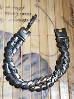 Brookcraft Silver Tone Multi Strand Silver Twisted Bracelent Vintage Jewelry