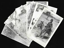 More details for military photo postcards soldiers missionaries africa children donkey lot x7