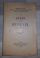 APPEL DU BERCAIL- VUES SUR LE MONDE ANIMAL - Marcel ROLAND (1952)