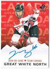 2017-18 SP AUTHENTIC GREAT WHITE NORTH JOSH HO-SANG AUTO TEAM CANADA #GWN-JH