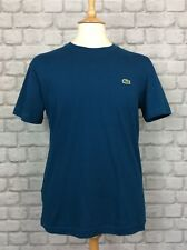 LACOSTE SPORT MENS UK S FR 3 ULTRA DRY TEAL TSHIRT T-SHIRT TEE CASUAL SUMMER
