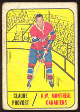 1967 68 TOPPS HOCKEY #71 CLAUDE PROVOST VG MONTREAL CANADIENS CARD