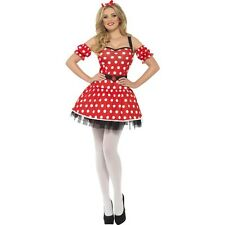 Womens Fever Madame Mouse Costume Fancy Dress Outfit Ladies Film Minnie Disney