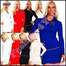 Sexy Ladies Jumper Dress Womens Sequins Pullover with Chain One Size 8,10,12 UK