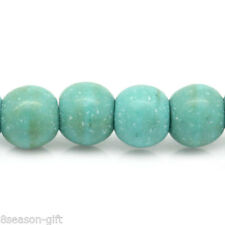 2 Strands Turquoise Loose Beads Round Green 4mm