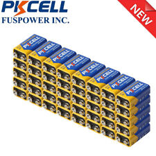 40x 9V Zinc Carbon Dry Batteries 6Lr61 6F22 9 Volt Shelf Life 3 years Us Seller