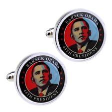 BARACK OBAMA CUFFLINKS 44th US President GIFT BAG Wedding Groom Fathers Day NEW