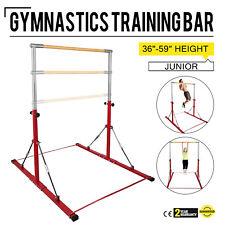 Adjustable Gymnastics Junior Training Horizontal Bar Brick Red 350lbs Sports