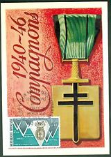 CARTES 1ER JOUR MAXIMUM  1940/1946 COMPAGNON LIBERATION   15/O6/1974  N°53
