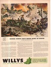 1943 Original Willys Jeep - Signal Corps unit beats ring of death-Kasserine Pass