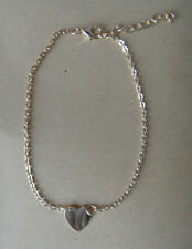 """ANKLETS FOOT CHAIN ANKLE BRACELET JEWELLERY """"HEART"""" CHARM  GOLD TONE"""