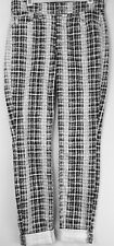 7 SEVEN FOR ALL MANKIND Black/White HOUNDSTOOTH  SKINNY Jeans Sz-25 $198
