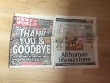 Last Ever News Of The World Newspaper - Collectors Item July 10 2011