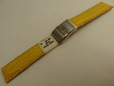 ZRC France Yellow Shark 20mm Watch Band Steel Deployment Sealock Clasp $34.95