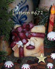 "Patti's Ratties Primitive Christmas Present Snowman 5"" Doll Paper Pattern 672"