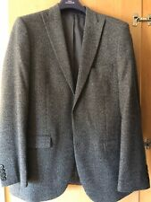 Moss Bros Mens Suit 40R Grey With 2x pairs Of Trousers Waist 36R Peaky blinders