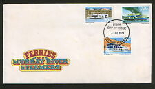 AUSTRALIA-FDC-FERRIES AND MURRAY RIVER STEAMERS-1979.