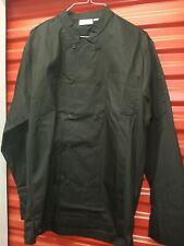 New! Chefworks Medium (Md) Black Chef Coat Jacket Kitchen Work Cook Uniform #G6