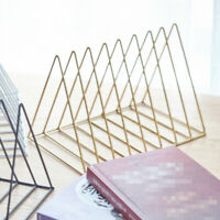 Desktop Book Storage Rack Iron Triangular Bookshelf Organizing Shelf Bookcase